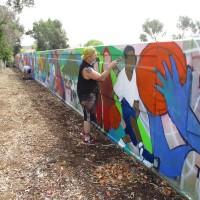 Sake paints life into new Teralta Park mural!