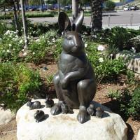 Rabbit sculptures find a home in Civita Park.