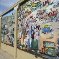 The award-winning Lemon Grove History Mural.