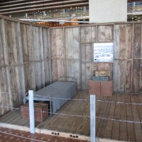 Replica WWII incarceration barrack at Central Library.